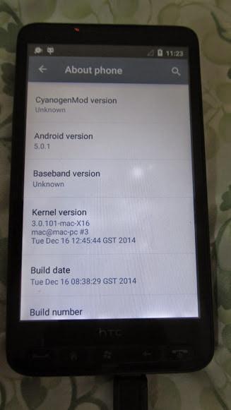 HTC HD2 porting Lollipop – 4