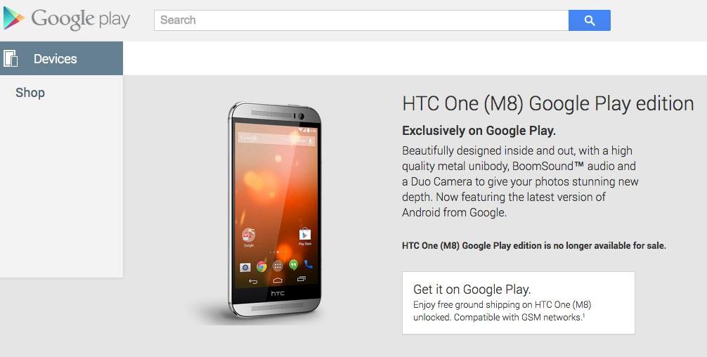 Addio Google Play Edition: nessun dispositivo è più disponibile all'acquisto