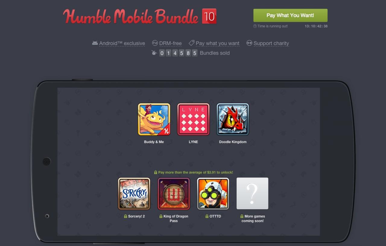 Sei giochi Android del valore di 26€a meno di 3,50€ con il nuovoHumble Mobile Bundle!