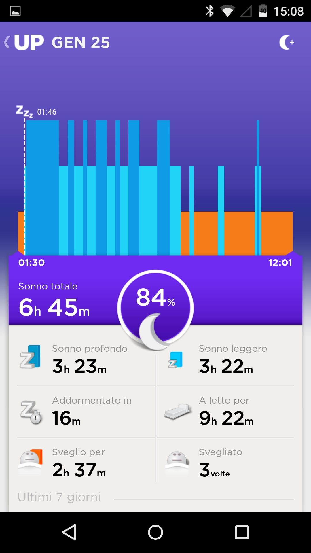 Jawbone UP Android App – 3