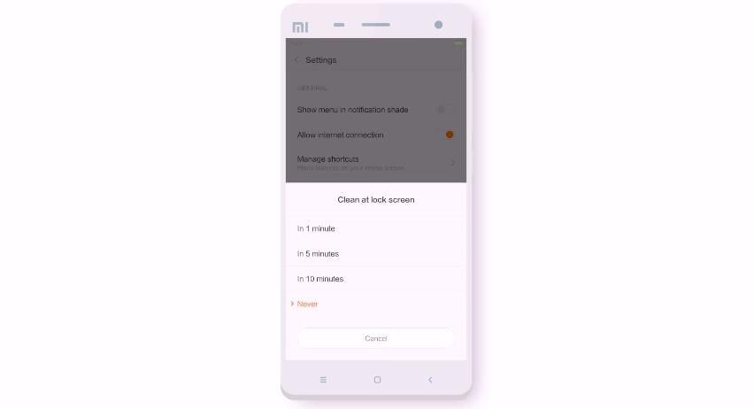 L'ultima versione della MIUI svuoterà periodicamente il cestino a schermo bloccato (video)
