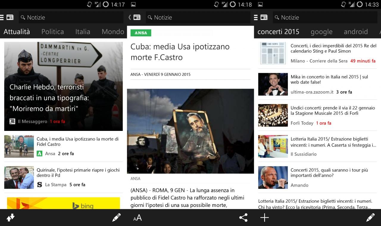 Microsoft porta le news sul vostro dispositivo con MSN Notizie (foto)