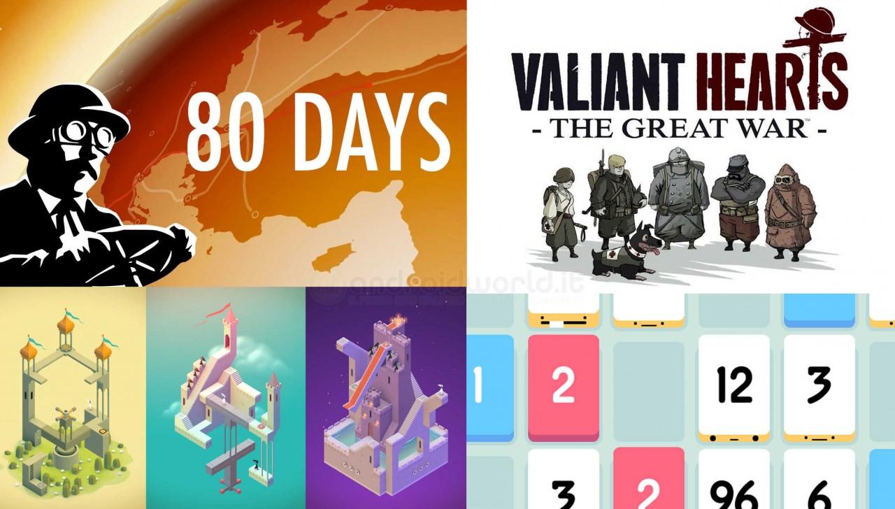 Monument Valley, 80 Days, Threes, Valiant Hearts a 0,79€ e Banner Saga a sconto su Amazon App-Shop!