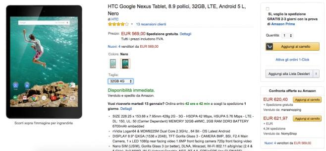 Nexus 9 LTE amazon
