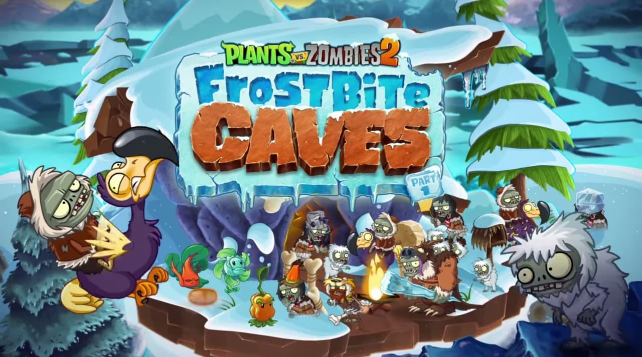 Plants vs. Zombies 2: arrivano le Grotte congelate e 8 zombie primitivi! (video)