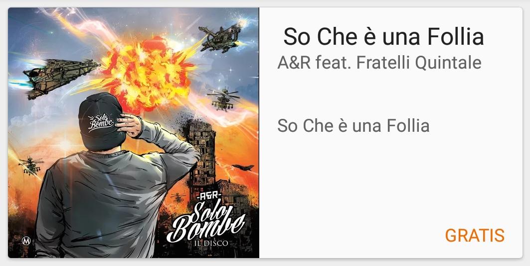 """""""So Che è una Follia"""", di A&R è il singolo gratuito di questa settimana"""
