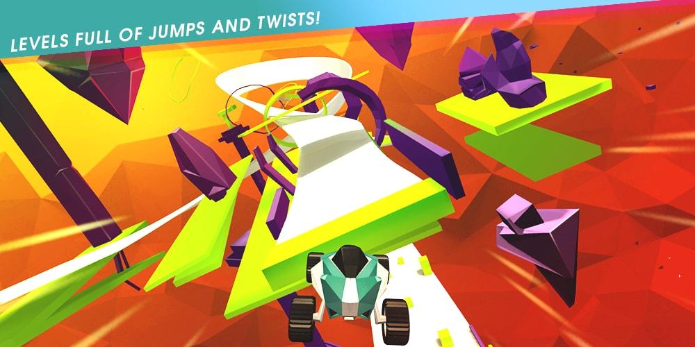 Corse folli, astratte (e gratuite) con Stunt Rush - 3D Buggy Racing! (foto e video)