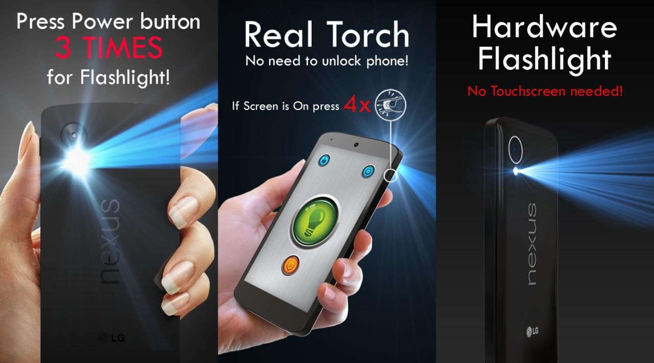 Ecco l'app per accendere la torcia con il pulsante di accensione