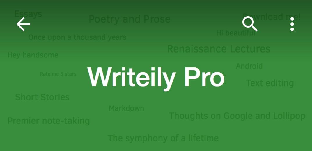 Writeily_editor di testo material