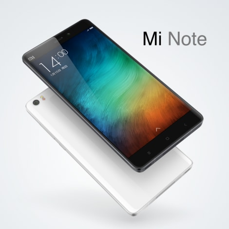 Xiaomi Mi Note official render - 1