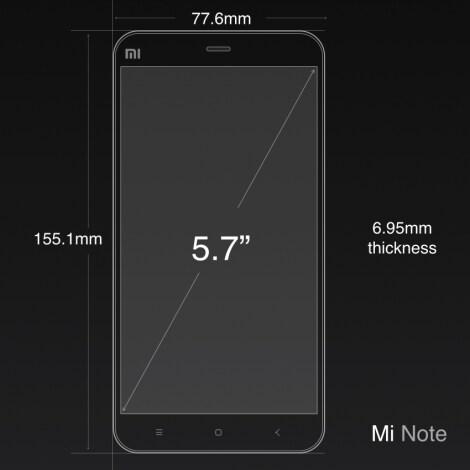 Xiaomi Mi Note official render - 4