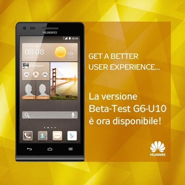 Disponibile un nuovo firmware beta per Huawei Ascend G6