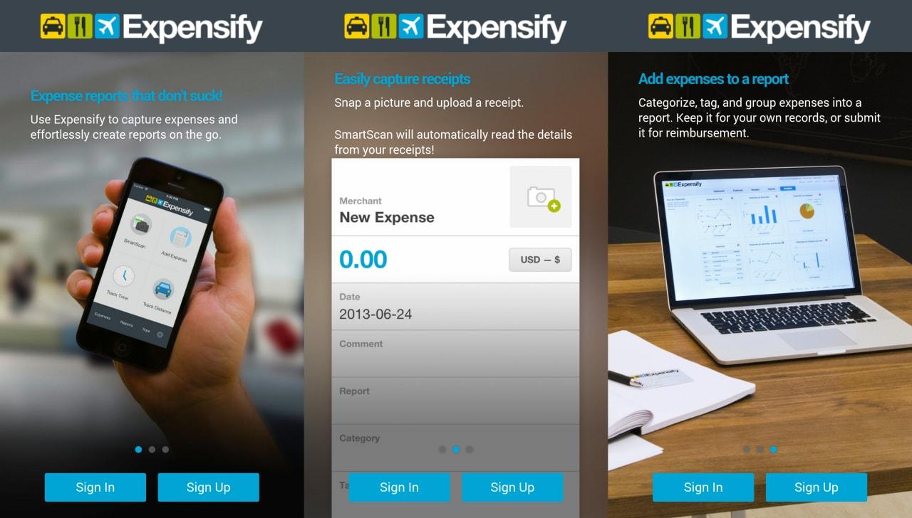 Expensify, l'app per registrare spese e rimborsi in modo automatico (foto)