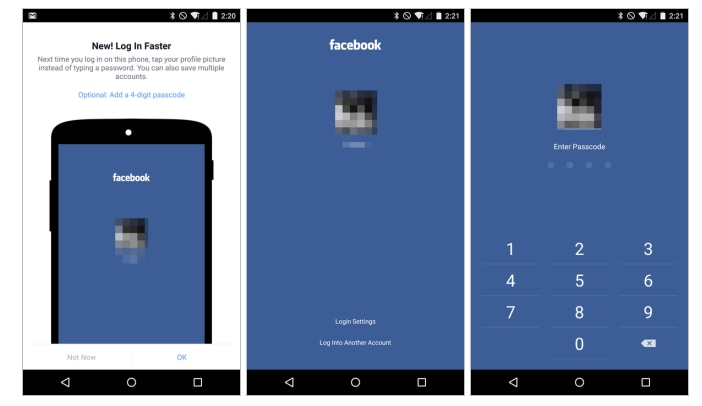 facebook login semplificato