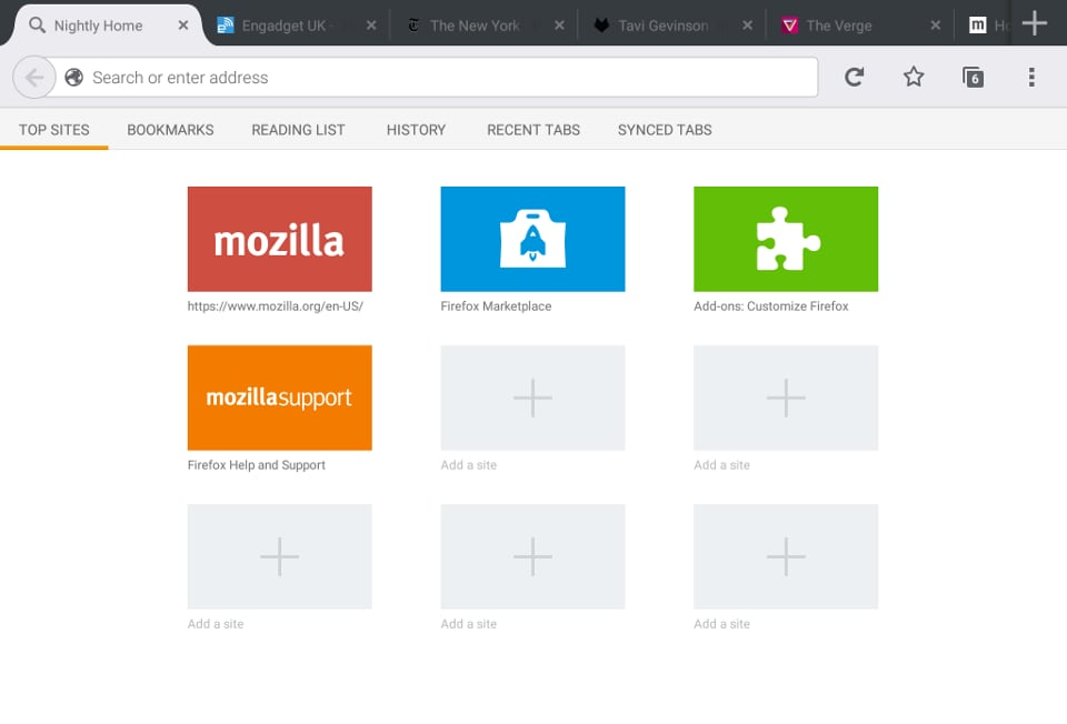 firefox 36 tablet ui