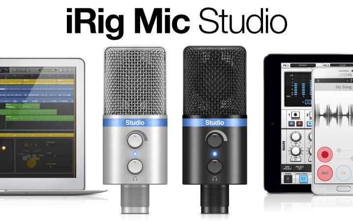 IK Multimedia presenta iRig Mic Studio, il microfono per registrare con lo smartphone