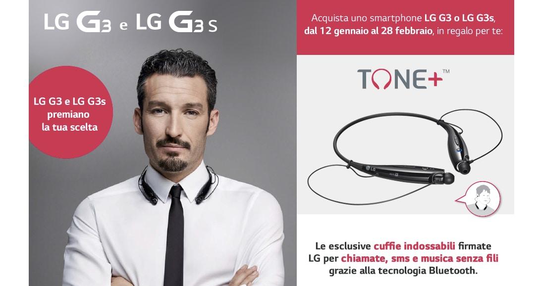 LG ci regala le cuffie Tone+ se acquistiamo G3 o G3 S