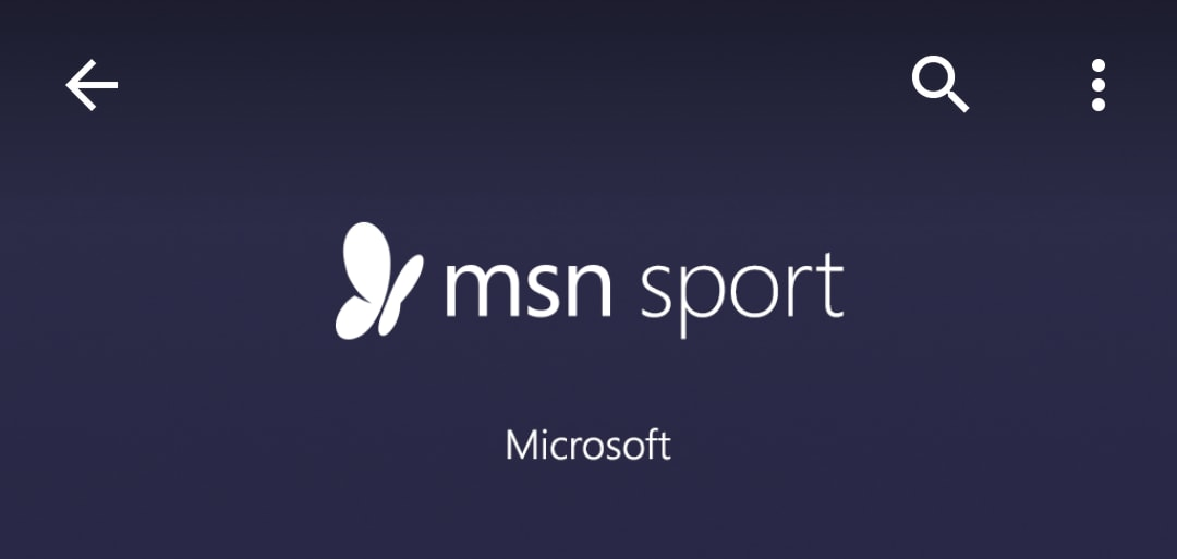 Lo sport su smartphone secondo Microsoft: MSN Sport (foto)