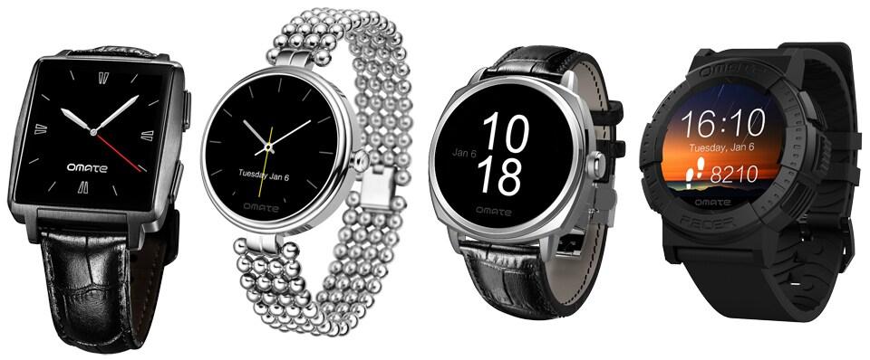 Omate Roma e Racer sono due nuovi smartwatch circolari