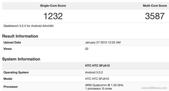 HTC One (M9) appare nei benchmark con Snapdragon 810