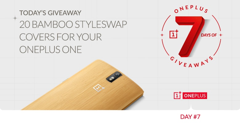 oneplus giveaway bambù