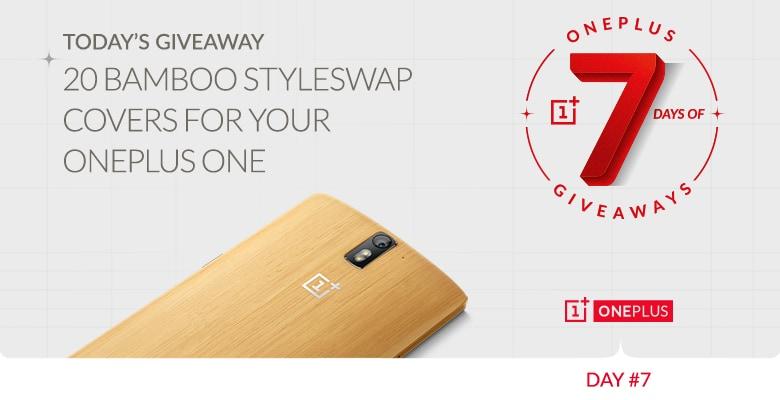 7 giorni di regali da OnePlus #7: 20 StyleSwap Cover in bambù + sorpresa