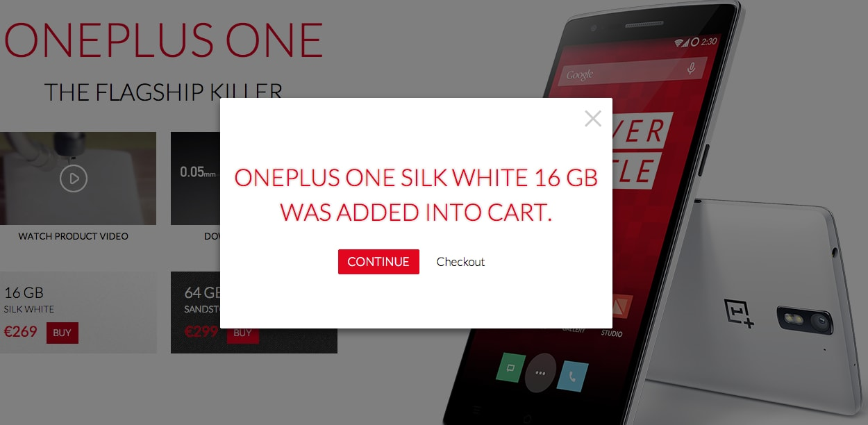 OnePlus One già disponibile all'acquisto senza invito, in anticipo sull'orario previsto (aggiornato)