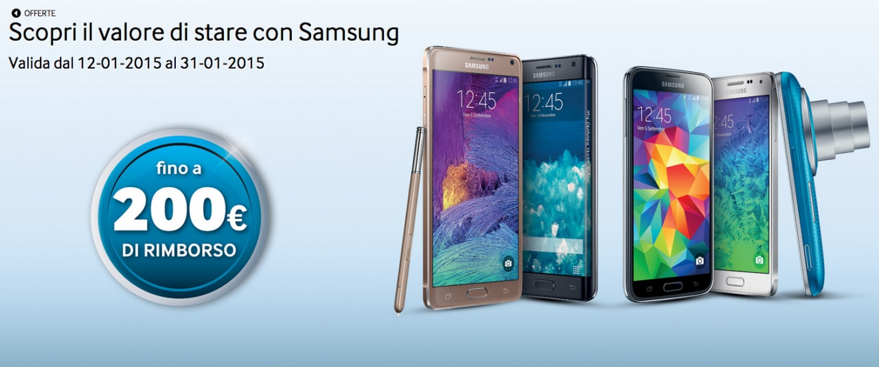 Samsung offre fino a 200 euro di rimborso sull'acquisto di un nuovo smartphone