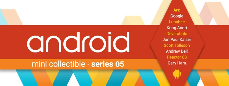 La preview della serie 5 dei collezionabili Android è cattiva e coccolosa (foto)