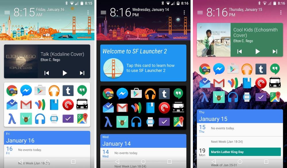 SF Launcher riunisce Material Design con il suo stile Google Now