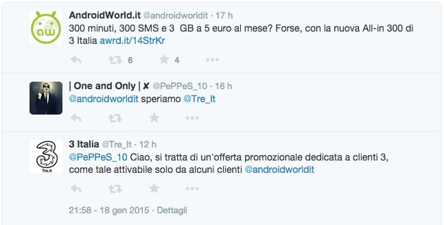tre italia conferma
