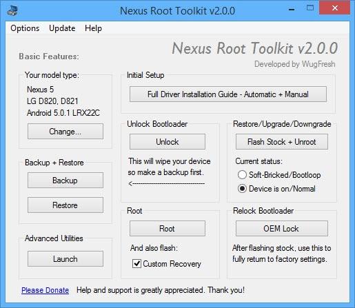 Wug Fresh aggiorna il suo toolkit per i Nexus alla versione 2.0
