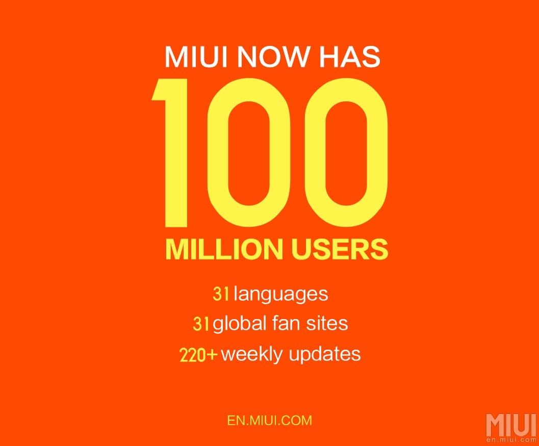 100 milioni utenti MIUI