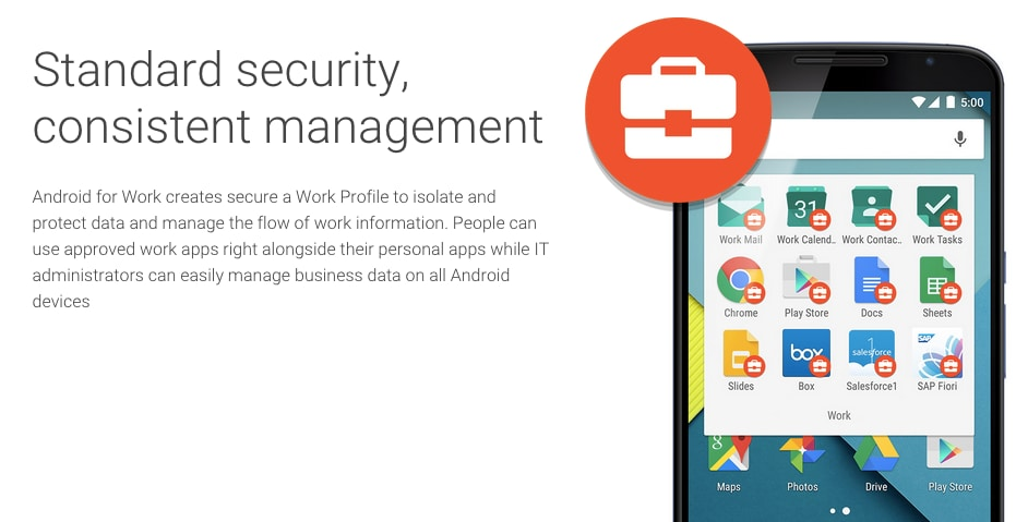 Android all'assalto del mondo aziendale con Android for Work
