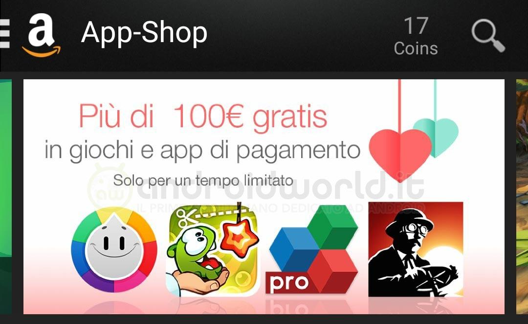 Cento euro app regalo Amazon