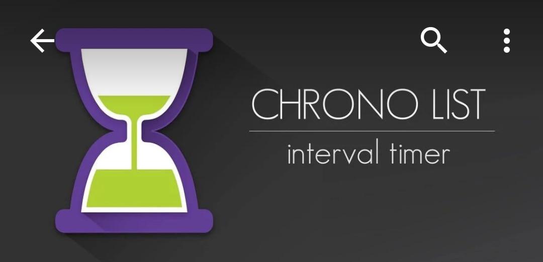Scandire i tempi dei vostri allenamenti con Chrono List (foto)