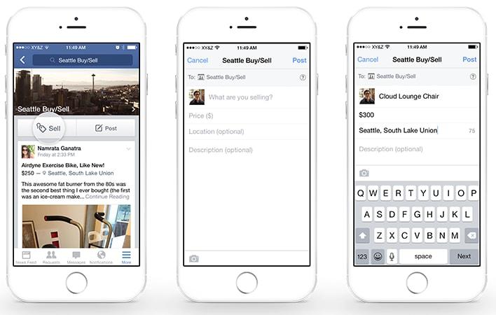 Facebook vendita