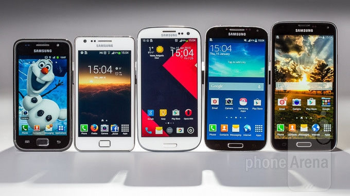Galaxy S, Galaxy S II, Galaxy S III, Galaxy S4, Galaxy S5