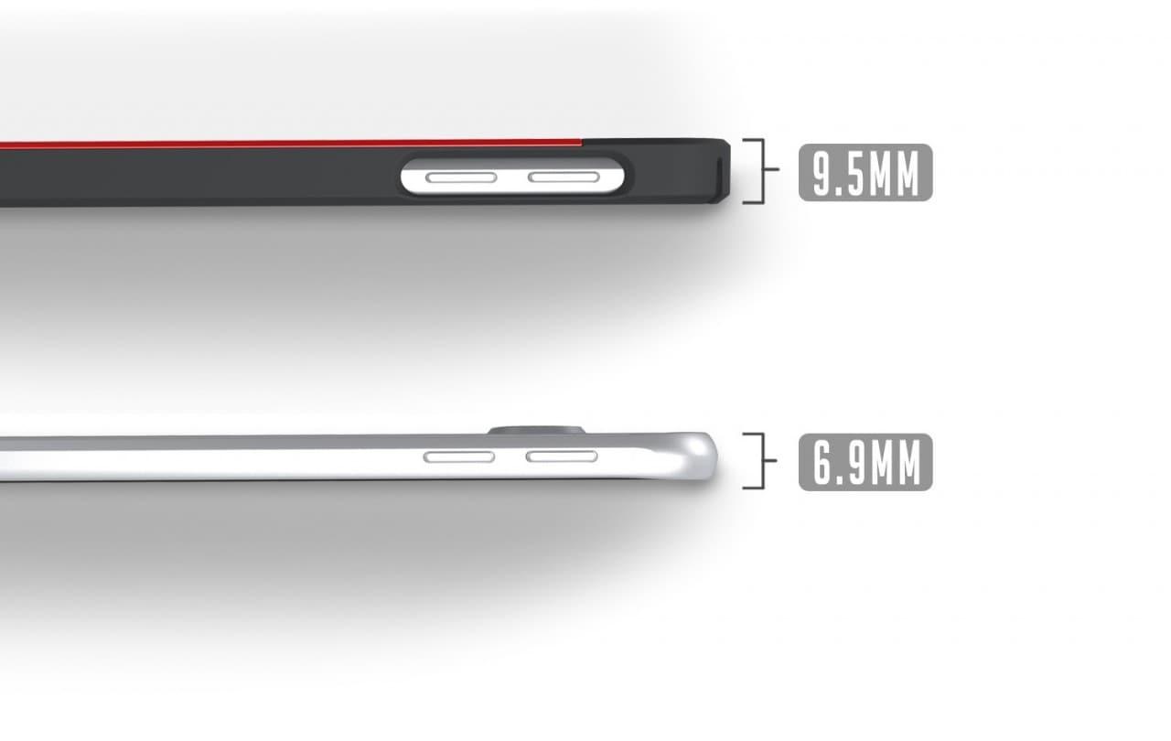 Galaxy S6 spessore con e senza custodia