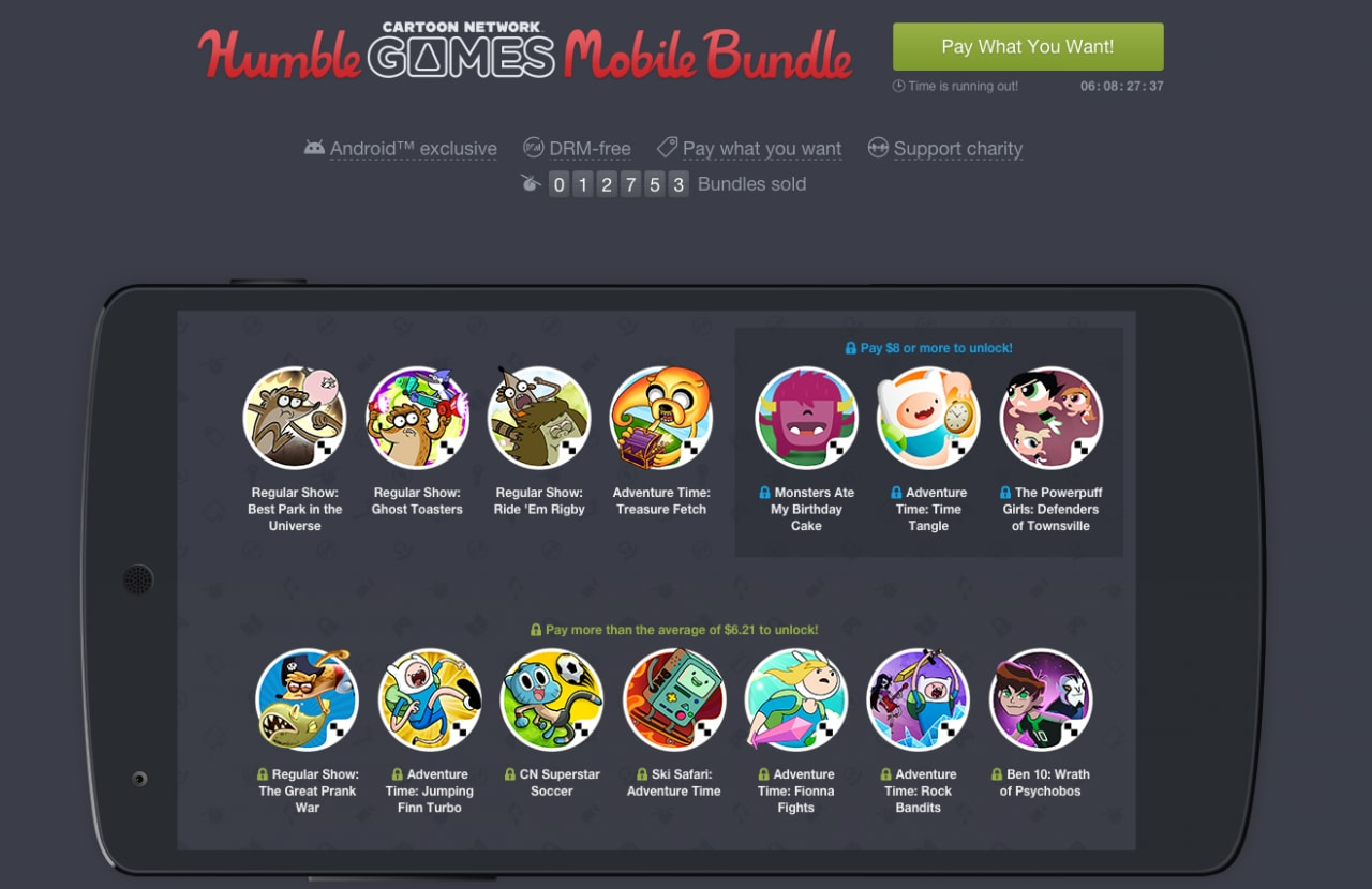 Humble Cartoon Network Mobile Bundle Aggiornamento