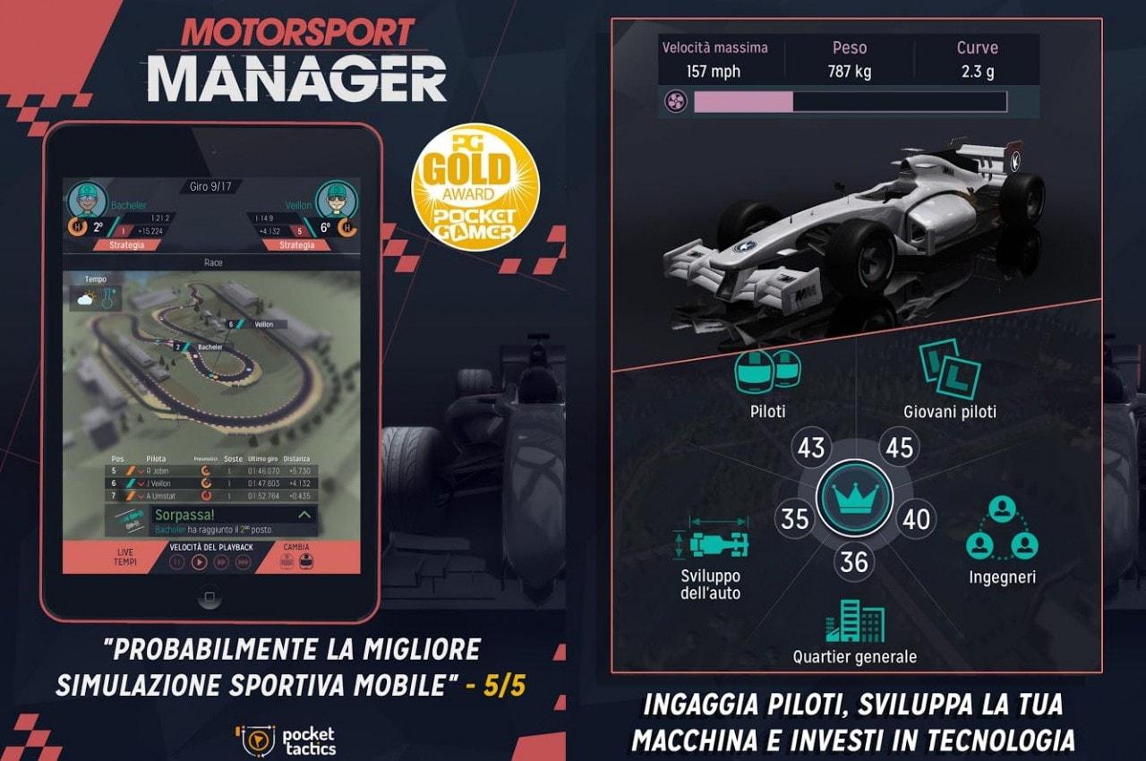 Arriva su Android Motorsport Manager, il manageriale di corse che avete sempre desiderato (foto e video)
