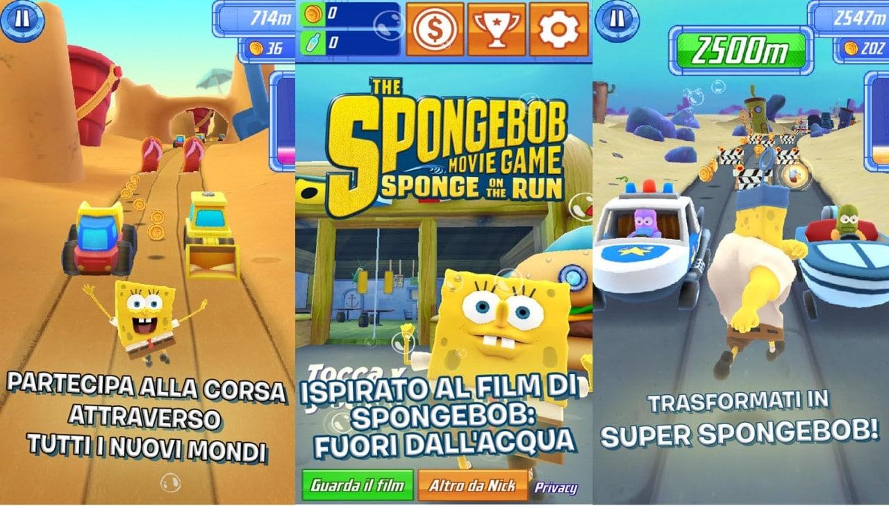 SpongeBob La grande corsa arriva sul Play Store carico di in-app e ad un prezzo vergognoso (foto e video)