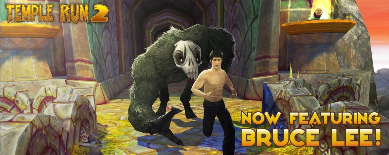 Impersonate Bruce Lee in Temple Run 2!