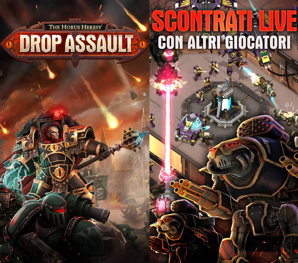 The Horus Heresy: Drop Assault disponibile anche per Android (foto e video)