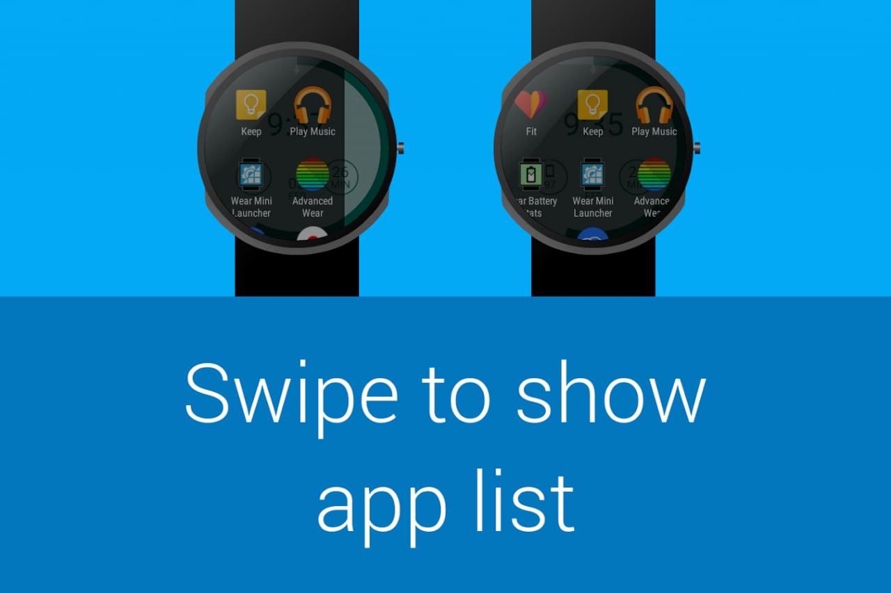 Wear Mini Launcher 3.0 diventa in Material design, ma non su Android Wear (foto)
