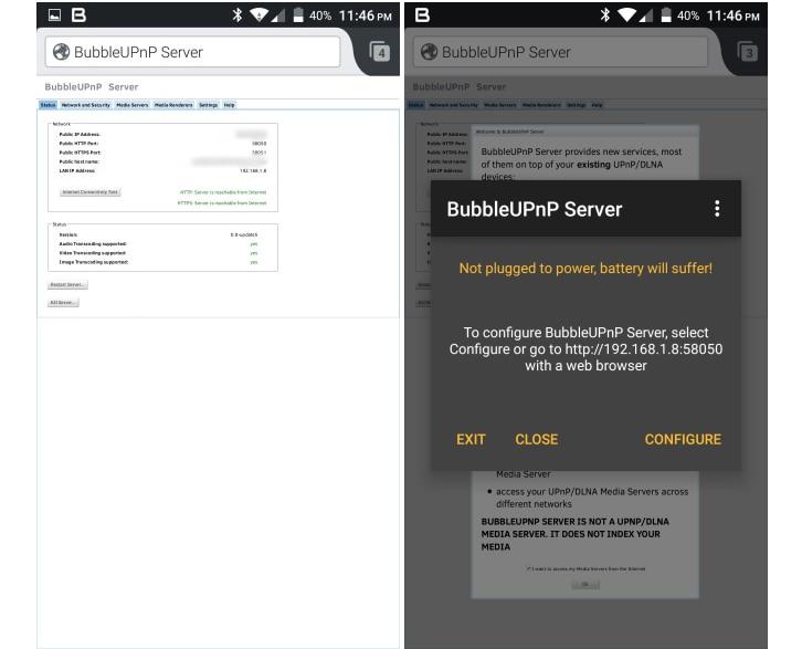 BubbleUPnP Server trasforma il vostro Android in un server UPnP