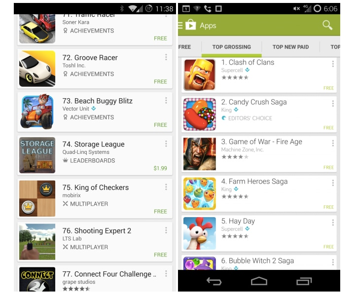classifica play store