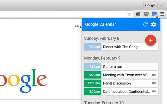 L'estensione di Google Calendar per Chrome ora con Material Design (foto)