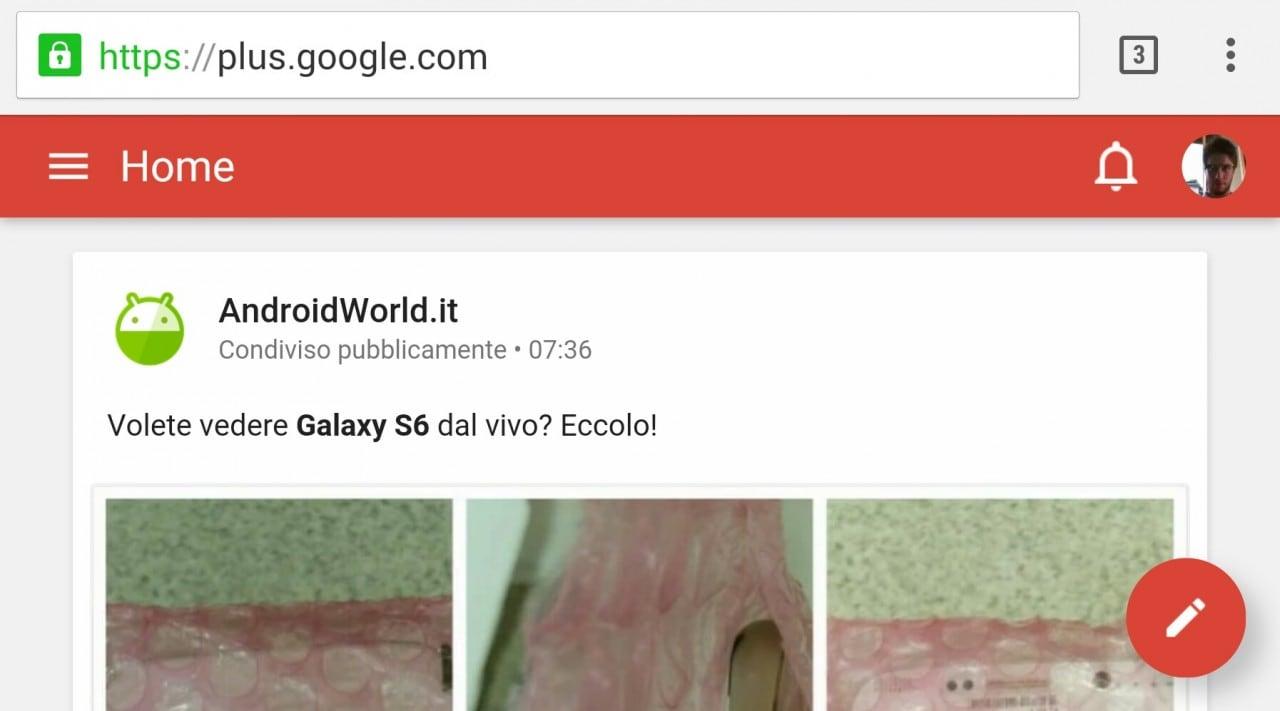 Google+ passa al Material Design anche da browser mobile