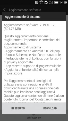 htc one m7 lolipop
